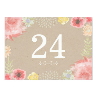 En los números de la tabla del boda del verano del invitación 12,7 x 17,8 cm