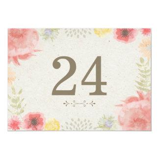 """En los números de la tabla del boda del verano del invitación 5"""" x 7"""""""