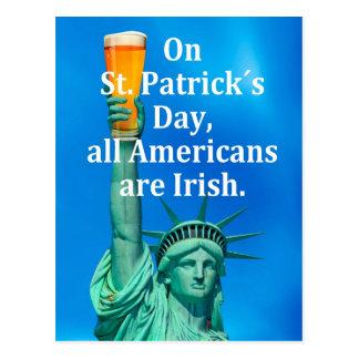 """""""En los ´s día de St Patrick, todos los americanos Postales"""