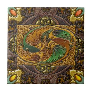 En madera céltica, por José Mosa Azulejo Cuadrado Pequeño