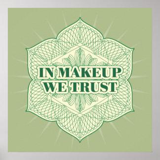 En maquillaje confiamos en póster