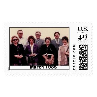 En marzo de 1985 timbres postales