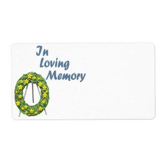 En memoria cariñosa etiqueta de envío