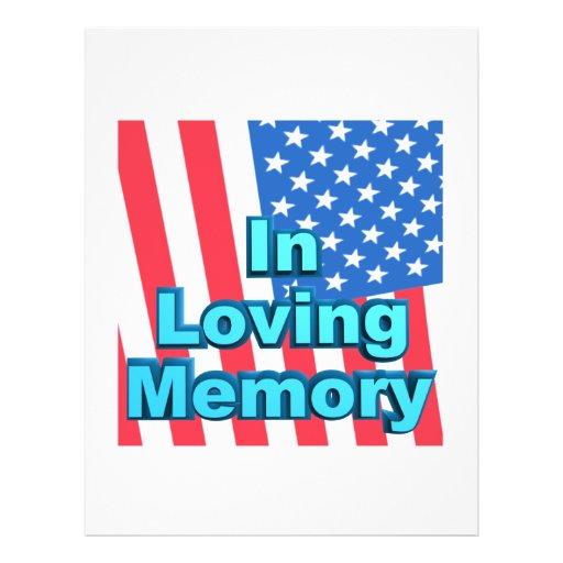 En memoria cariñosa tarjetas informativas