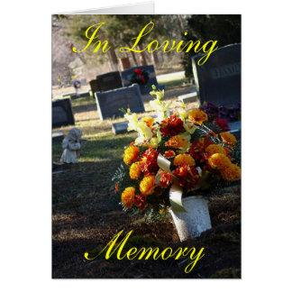 En memoria cariñosa tarjeta de felicitación