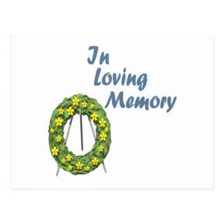 En memoria cariñosa tarjetas postales