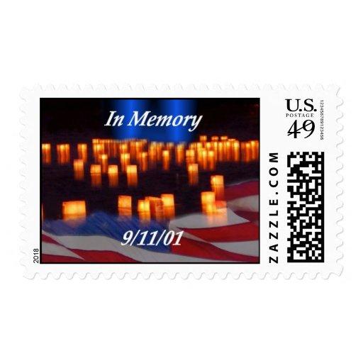 ¡En memoria de 9/11! Sello