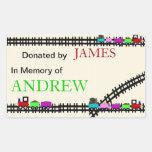 En memoria de Bookplates donados del tren