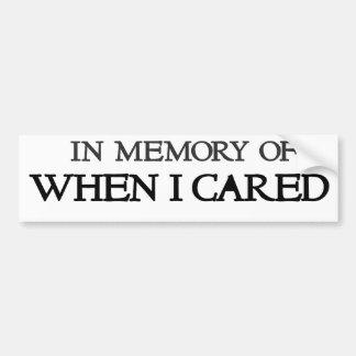 En memoria de cuando cuidé pegatina para auto