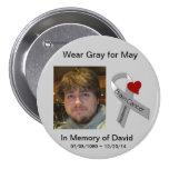 En memoria de David Pin Redondo De 3 Pulgadas