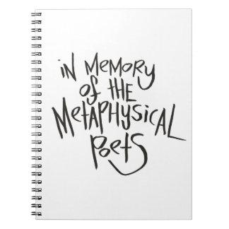 En memoria de los poetas metafísicos libretas espirales