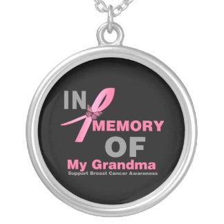 En memoria de mi abuela - cáncer de pecho colgante redondo