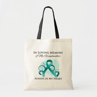 En memoria de mi abuela - cáncer ovárico bolsas lienzo