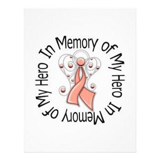 En memoria de mi ala del ángel del cáncer endometr tarjetas publicitarias