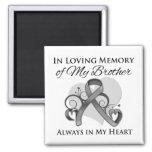 En memoria de mi Brother - cáncer de cerebro Imán