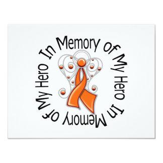 En memoria de mi cáncer del riñón del héroe el invitación 10,8 x 13,9 cm