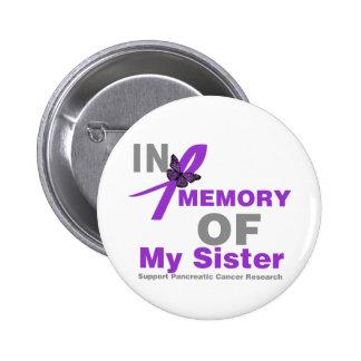 En memoria de mi cáncer pancreático de la hermana pin redondo de 2 pulgadas