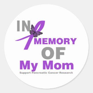 En memoria de mi cáncer pancreático de la mamá pegatina redonda