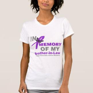 En memoria de mi cáncer pancreático del cuñado playera