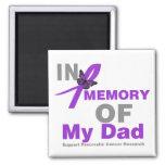 En memoria de mi cáncer pancreático del papá imanes de nevera
