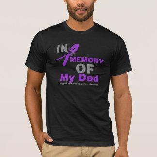En memoria de mi cáncer pancreático del papá playera
