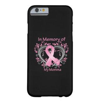 En memoria de mi corazón del cáncer de pecho de funda de iPhone 6 barely there