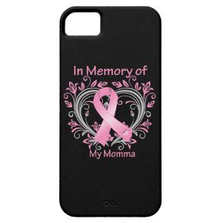 En memoria de mi corazón del cáncer de pecho de iPhone 5 fundas