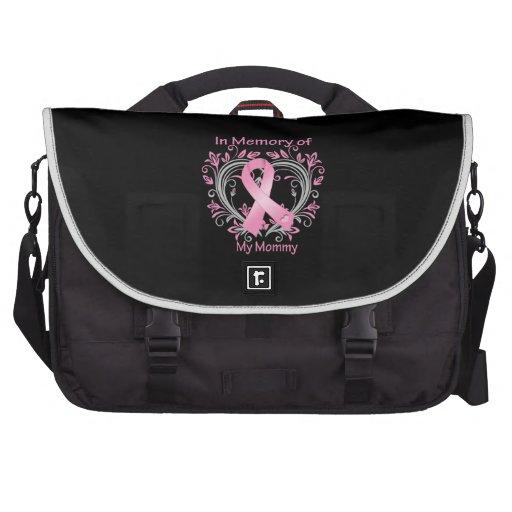 En memoria de mi corazón del cáncer de pecho de la bolsas para ordenador