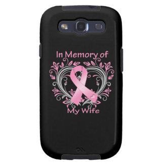 En memoria de mi corazón del cáncer de pecho de la galaxy s3 protector