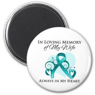 En memoria de mi esposa - cáncer ovárico imanes de nevera