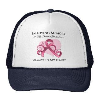 En memoria de mi Grande-Abuela - cáncer de pecho Gorra