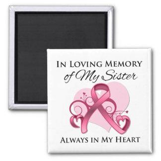 En memoria de mi hermana - cáncer de pecho imán