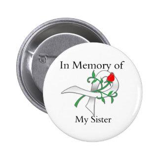 En memoria de mi hermana - cáncer de pulmón pin