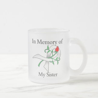 En memoria de mi hermana - cáncer de pulmón taza de cristal