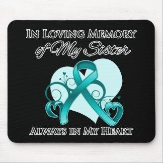 En memoria de mi hermana - cáncer ovárico alfombrilla de ratón