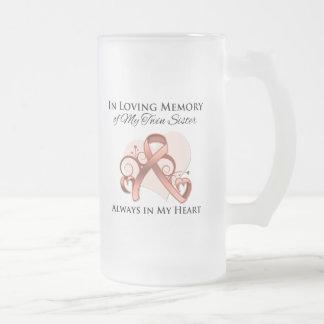 En memoria de mi hermana gemela - cáncer uterino taza de café