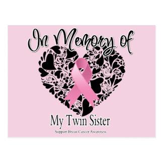En memoria de mi hermana gemela tarjeta postal