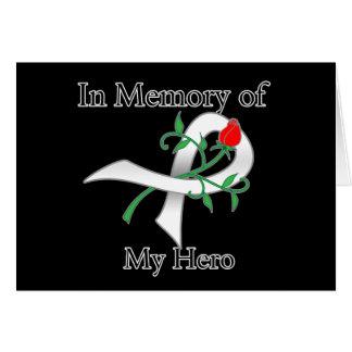 En memoria de mi héroe - cáncer de pulmón tarjetón