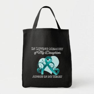 En memoria de mi hija - cáncer ovárico bolsa tela para la compra