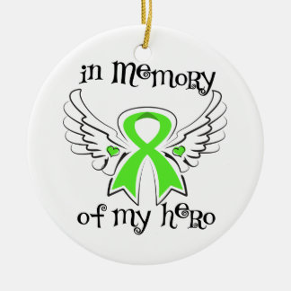 En memoria de mi linfoma Non-Hodgkin del ángel del Ornamento Para Arbol De Navidad