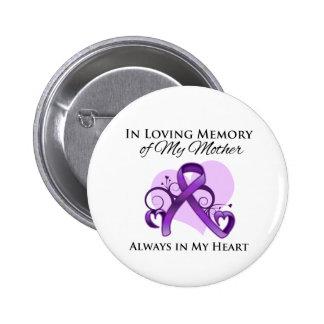 En memoria de mi madre - cáncer pancreático pin redondo de 2 pulgadas