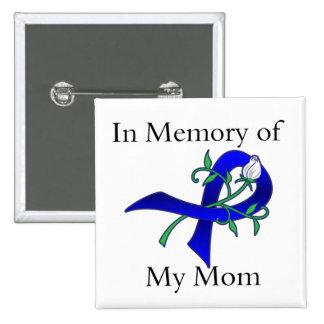En memoria de mi mamá - cáncer de colon pin cuadrado