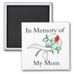 En memoria de mi mamá - cáncer de pulmón imán de frigorifico