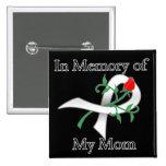 En memoria de mi mamá - cáncer de pulmón pin