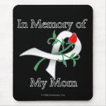 En memoria de mi mamá - cáncer de pulmón alfombrillas de ratón