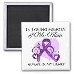En memoria de mi mamá - cáncer pancreático imanes de nevera