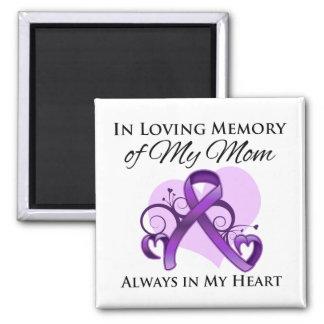 En memoria de mi mamá - cáncer pancreático imán cuadrado