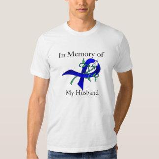 En memoria de mi marido - cáncer de colon camisas