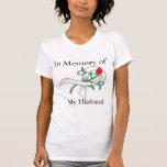 En memoria de mi marido - cáncer de pulmón camiseta