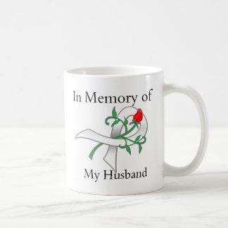 En memoria de mi marido - cáncer de pulmón taza